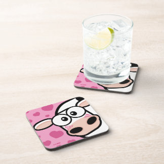 Blushing Cow & Love Hearts Beverage Coaster