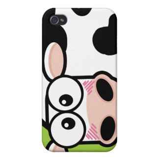 Blushing Cow on Green iPhone 4 Cover