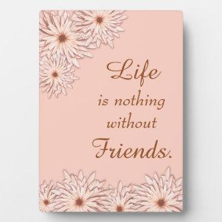 Blushing Daisy Friendship Photo Plaques
