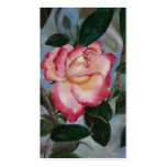 Blushing Delight Rose Art Cards Double-Sided Standard Business Cards (Pack Of 100)