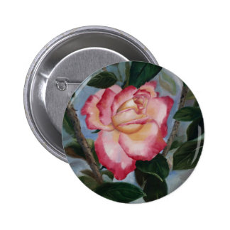 Blushing Delight Rose Button