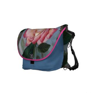 Blushing Delight Rose Messenger Bag