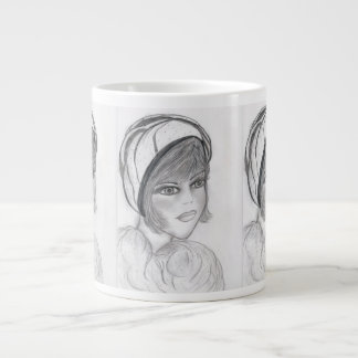 Blushing Flapper Giant Coffee Mug