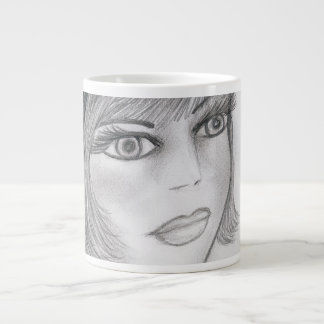 Blushing Flapper Girl Large Coffee Mug