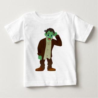 Blushing Frankenstein's Monster Scratching Head Tee Shirt