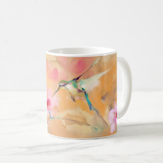 """Blushing"" Hummingbird Print Coffee Mug"