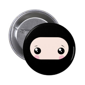 Blushing Kawaii Ninja Pinback Button