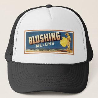 Blushing Melons Vintage Label Trucker Hat