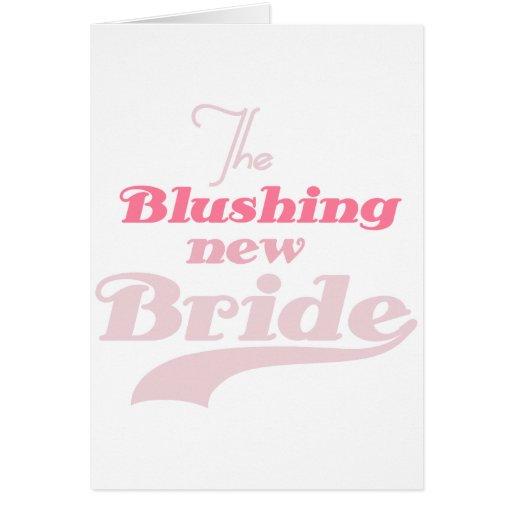 Blushing New Bride Greeting Card