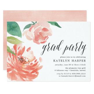 Blushing Peony   Graduation Party Invitation
