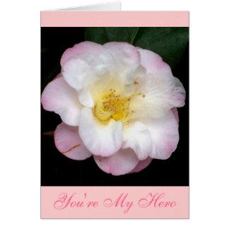 Blushing Pink Camellia Card