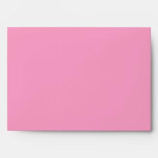 Blushing Pink Flower Customizable Envelopes (pink)