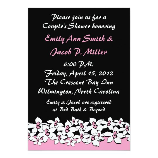 Blushing Pink Flowers Couple's Shower Invitation