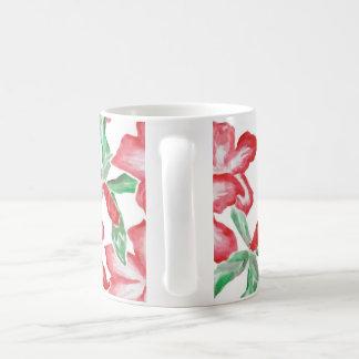 Blushing Red Flowers Coffee Mug