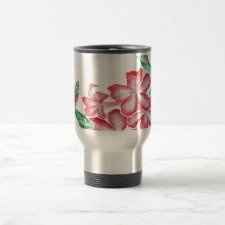 Blushing Red Flowers Travel Mug