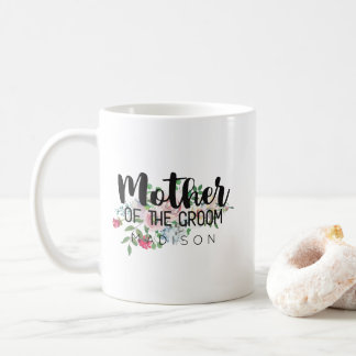 Blushing Rose Floral Wedding Mother of the Groom Coffee Mug