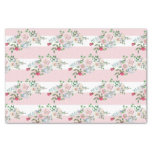 Blushing Rose Watercolor Floral Wedding Tissue Paper