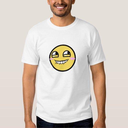 Blushing smiley shirt