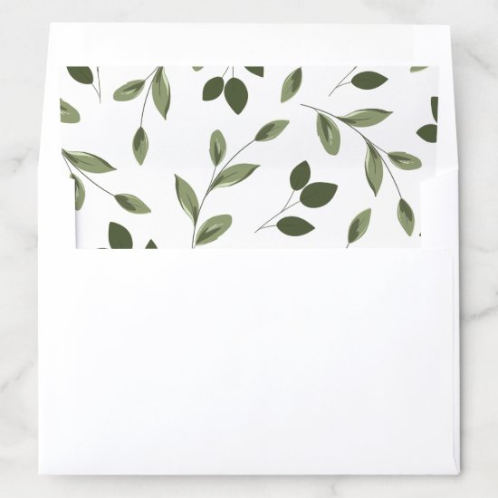 Blushing Sprigs Envelope Liner