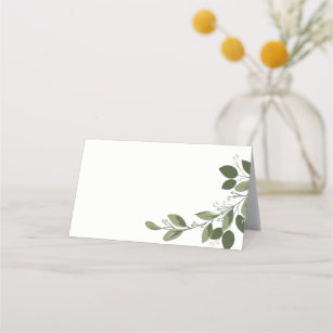Wedding Place Cards Watercolor Floral Swag Tent Style Place Cards or Table Place Cards #16