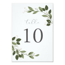 Blushing Sprigs Table Number Card