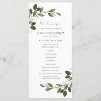 Blushing Sprigs Wedding Program