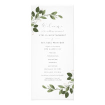 Blushing Sprigs Wedding Program