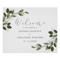 Blushing Sprigs Wedding Welcome Poster