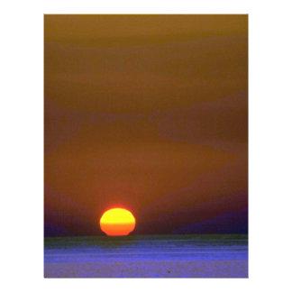"Blushing Sun Going Down 8.5"" X 11"" Flyer"