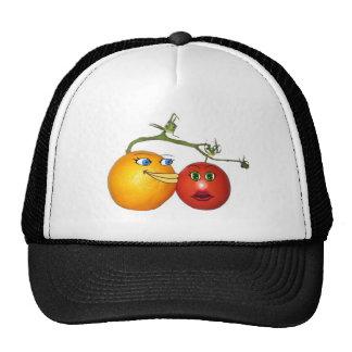 Blushing tomato trucker hat