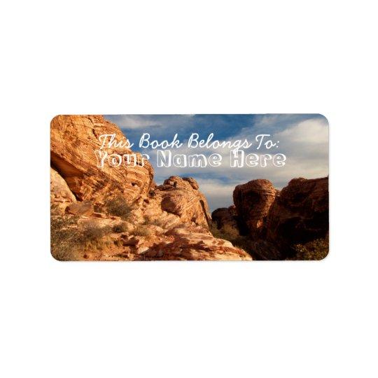 BLUSK Blue Sky Meets Red Rock Label