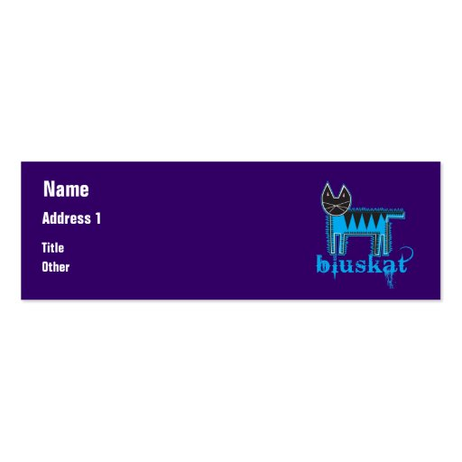 Bluskat Business Card Template