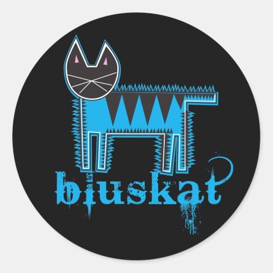 Bluskat Classic Round Sticker