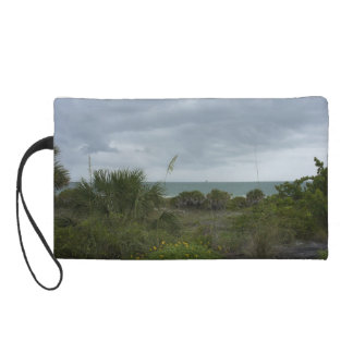 Blustery Day at the Beach Wristlet Purse