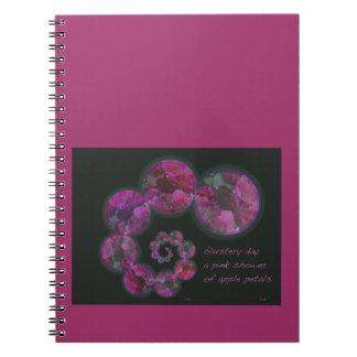 Blustery Day Spring Haiga Poem Notebooks