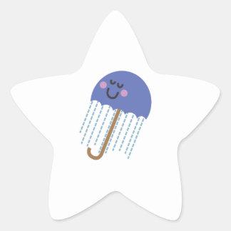 Blustery Umbrella Star Sticker