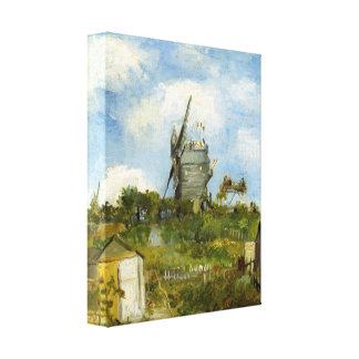 Blut Fin Windmill by Vincent van Gogh Stretched Canvas Print