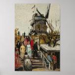 Blute-Aleta de Van Gogh Le Moulin de Poster