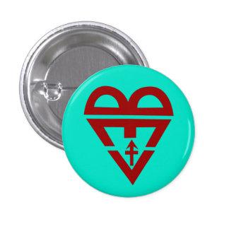 BLuv (Artemis blue) 1 Inch Round Button