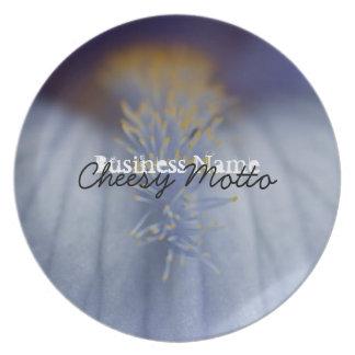 BLYE Blue and Yellow Iris Dinner Plate