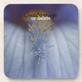 BLYE Blue and Yellow Iris Drink Coaster