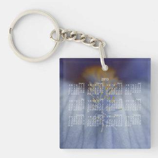 BLYE Blue and Yellow Iris Keychain