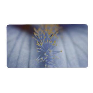 BLYE Blue and Yellow Iris Label