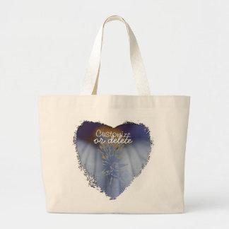 BLYE Blue and Yellow Iris Large Tote Bag