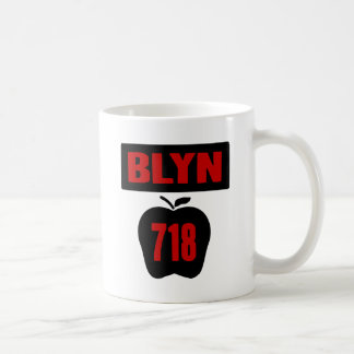 BLYN 718 Inside of Big Apple With Banner, 2 Color Coffee Mug