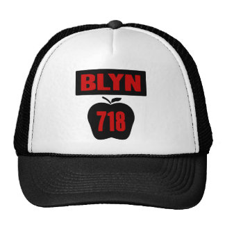 BLYN 718 Inside of Big Apple With Banner, 2 Color Mesh Hats