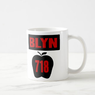 BLYN 718 Inside of Big Apple With Banner 2 Color Mugs