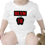 BLYN 718 Inside of Big Apple With Banner, 2 Color T-shirts