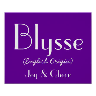 Blysse English Origin With Meaning In Purple I Print
