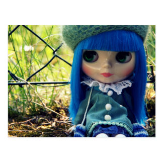 Blythe blue postcard